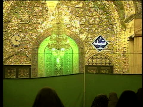 1st may 2000 cu zo ws women praying in separate section of saint massoumeh shrine / qum, iran - mausoleum stock videos and b-roll footage