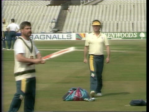 England v Australia b ENGLAND Leeds Headingley MS Australian Capt Allan Border walking around field as practice session in progress CMS Border CBV...
