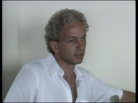 England v Australia INT CMS David Gower intvw'd SOF why England lost CMS Allan Border intvw'd SOF pleased at win CMS Alderman holding man of match...