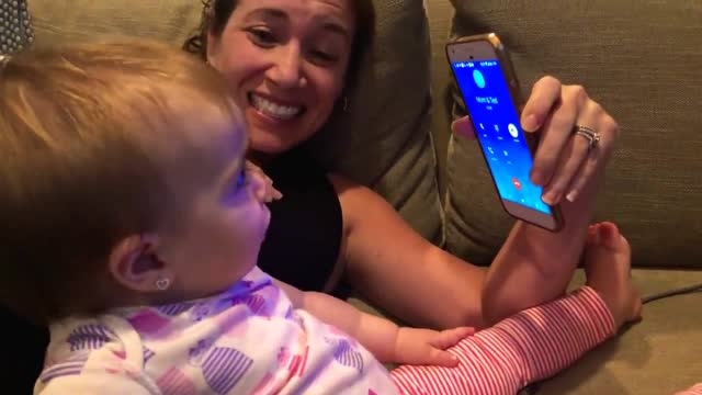 year-old sadie is starting to talk a lot more since her first birthday a few weeks ago. last night she got a phone call from her grandma and she had... - week stock videos & royalty-free footage