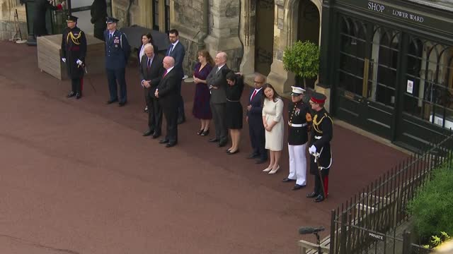20th anniversary of 9/11 attacks: us national anthem played at changing the guard ceremony in windsor; england: berkshire: windsor: windsor castle:... - military uniform stock videos & royalty-free footage