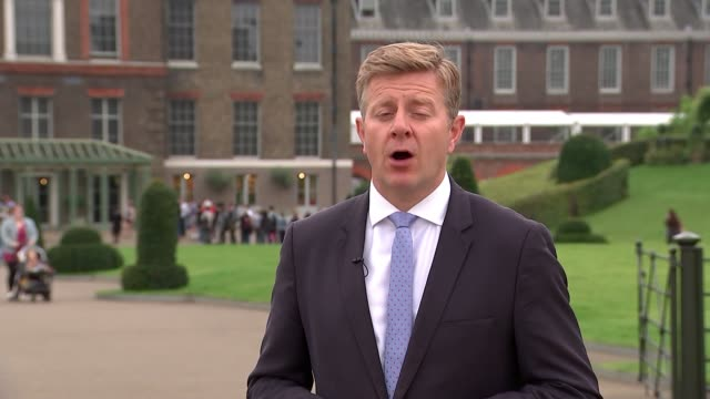 20th anniversary of death of princess diana princes william and harry appear in bbc documentary kensington palace reporter to camera 'remembering... - übersichtsreport stock-videos und b-roll-filmmaterial