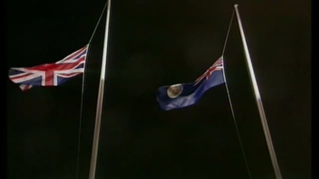 clashes at prodemocracy demonstration lib / 3061997 various of ceremony at the handover of hong kong from britain to china as the union jack flag and... - colony stock videos & royalty-free footage