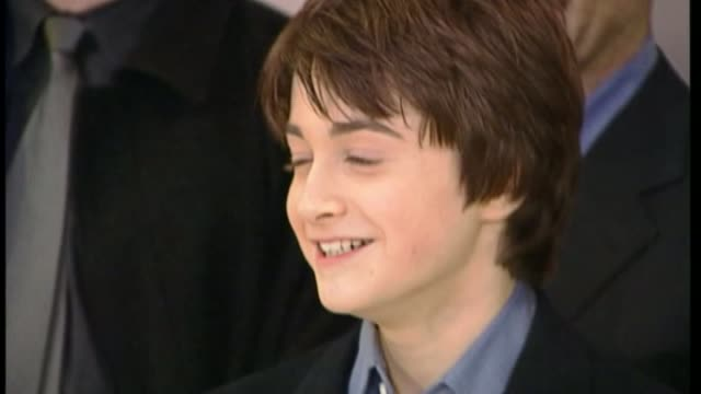 20th anniversary of publication of the first harry potter book t051101025 / 4112001 london leicester square daniel radcliffe emma watson and rupert... - publication stock videos & royalty-free footage
