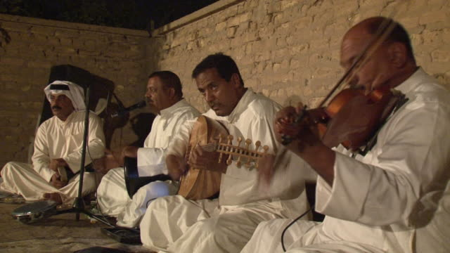 20th jul 2009 band playing al kashaba music / basra, iraq - basra stock-videos und b-roll-filmmaterial