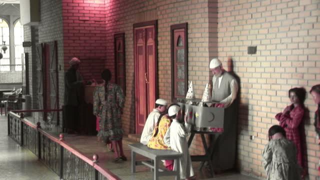 20th jul 2009 ws zo pan figures in baghdad wax museum / baghdad iraq - animal representation stock videos & royalty-free footage