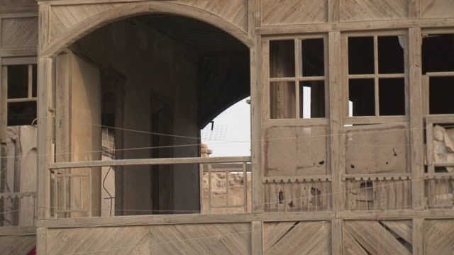 20th jul 2009 old building in shanasheel district / basra, iraq - basra video stock e b–roll