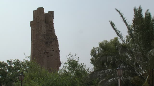 20th jul 2009 ws tower at al mustasrwyra historic school built in 1233 / baghdad iraq - madressa stock videos and b-roll footage