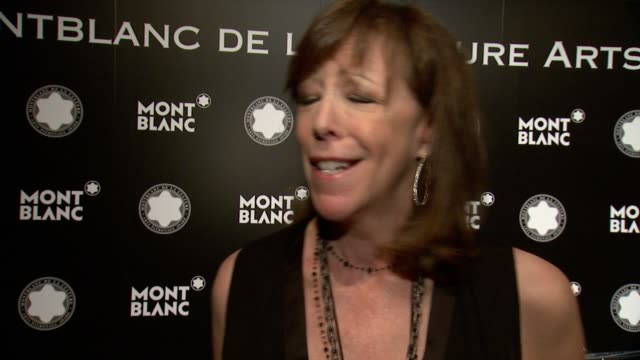 CHYRON 23rd Annual Montblanc De La Culture Arts Patronage Award Honoring Jane Rosenthal at Stephan Weiss Studio on June 03 2014 in New York City