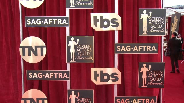 atmosphere 23rd annual screen actors guild awards arrivals at the shrine expo hall on january 29 2017 in los angeles california - screen actors guild stock videos & royalty-free footage