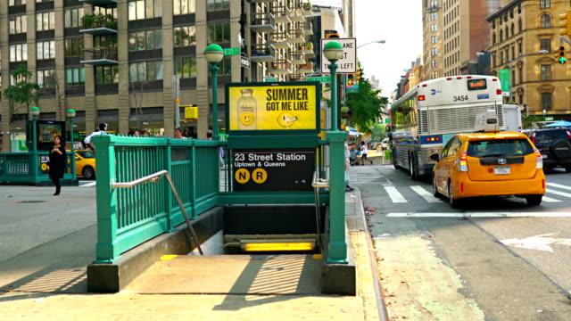 vidéos et rushes de 23rd street subway station - ligne de tramway