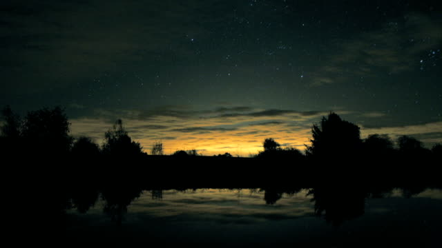24-hour timelapse over a lake - komplett stock-videos und b-roll-filmmaterial