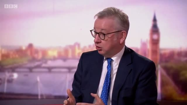 """hour use only. mandatory credit: the andrew marr show/bbc one. cabinet office minister michael gove has insisted that the door is """"ajar"""" for... - ajar stock videos & royalty-free footage"""
