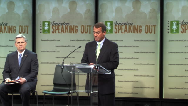 25may2010 ws republican house leadership launches website americas speaking out at the newseum / washington dc usa / audio - 2010 stock videos & royalty-free footage