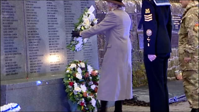 25th anniversary of lockerbie bombing marked scotland dumfries and galloway lockerbie dryfesdale cemetery ext various shot crowd in churchyard at... - dumfries and galloway stock videos & royalty-free footage