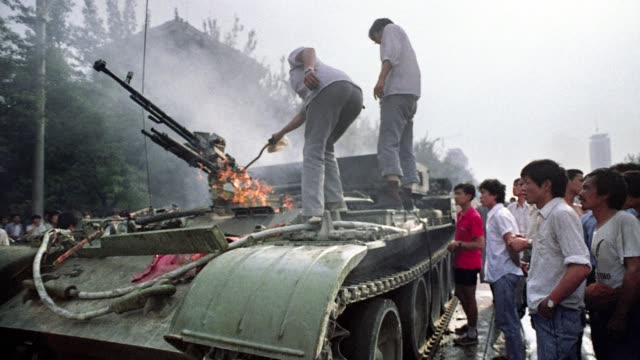 25th anniversary of the june 34 1989 crackdown when soldiers killed hundreds of unarmed civilians and by some estimates more than 1000 to crush a... - 25th anniversary stock videos and b-roll footage