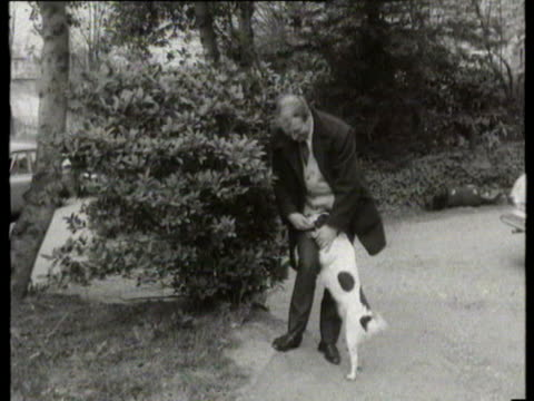 mar-1966 b/w pickles the dog with owner / united kingdom / audio - one animal stock videos & royalty-free footage