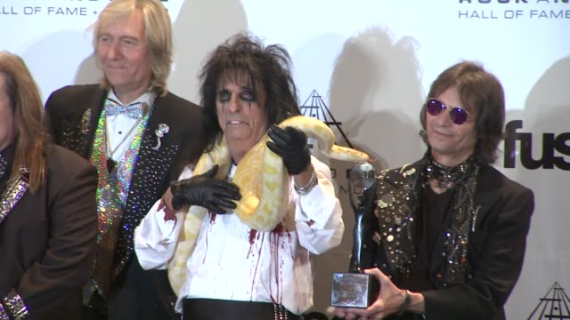 26th annual rock and roll hall of fame induction ceremony press room new york ny united states - hall of fame stock videos and b-roll footage