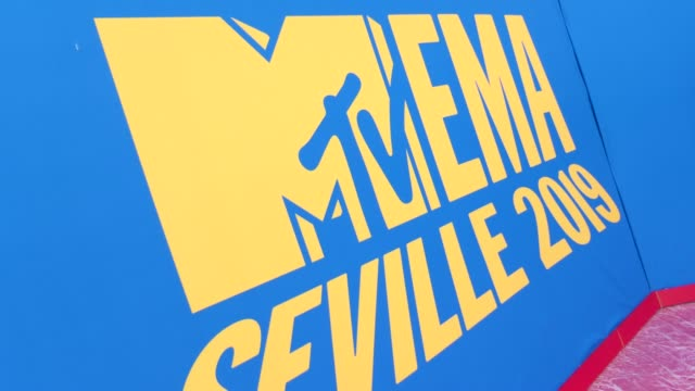 atmosphere 26th mtv europe music awards on november 03 2019 in seville spain - mtv点の映像素材/bロール