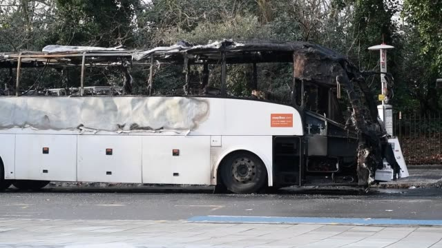 year-old woman has died after a crash between a rental car and a national express bus.the vehicles were engulfed in flames after the smash which... - fireball stock videos & royalty-free footage