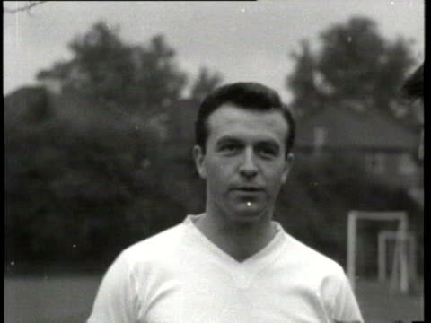 jun-1961 b/w jimmy armfield, england captain interviewed by jimmy hill on england's prospects in world cup / united kingdom / audio - international team soccer stock videos & royalty-free footage