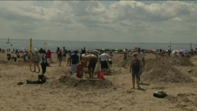 WPIX 27th Annual Sand Sculpting Contest at Coney Island on Aug 19 2017 in New York City New York