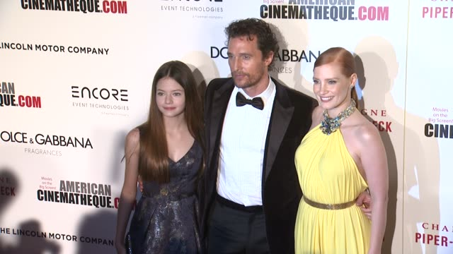 clean 28th american cinematheque award honoring matthew mcconaughey at the beverly hilton hotel on october 21 2014 in beverly hills california - american cinematheque stock videos & royalty-free footage