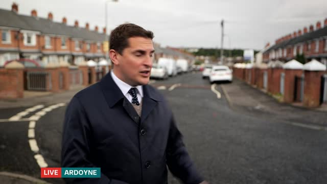 year-old woman arrested over murder of a baby and attempted murder of another child in north belfast; northern ireland: belfast: ardoyne: brompton... - crime and murder stock videos & royalty-free footage