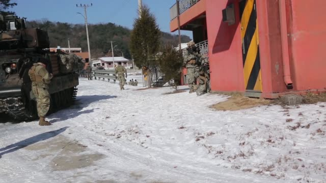 2nd Armored Brigade Combat Team conducted Exercise Warrior Strike IX at various locations throughout South Korea during 12th to 15th December 2017...