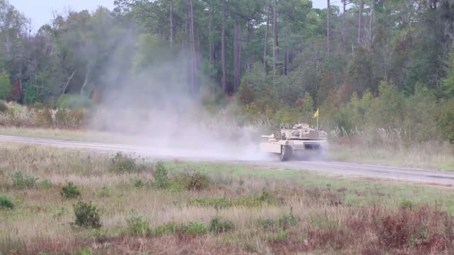 2nd battalion, 69th armored regiment, 2nd armored brigade combat team, 3rd infantry division conduct training with m1a1-sa abrams tanks at fort... - fort stewart stock videos & royalty-free footage