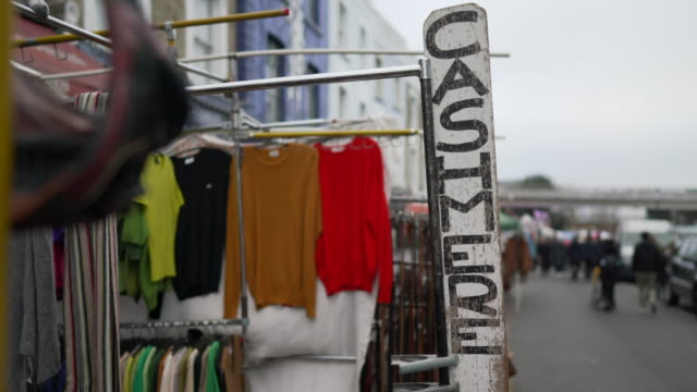 2nd hand cashmere clothes for sale in portobello road - notting hill videos stock videos & royalty-free footage