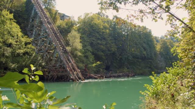 ws 2nd world war resistance - destroyed railway bridge - 1943 stock videos & royalty-free footage