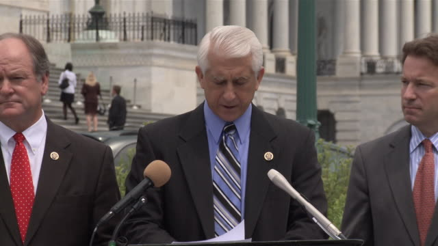 jun-2010 us-south korea free trade agreement, hosted by us rep dave reichert, d-wash, rep. bobby bright, d-ala., rep. peter roskam, r-ill., rep.... - 下院議員点の映像素材/bロール