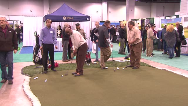 31st annual golf show on february 28 2014 in rosemont illinois - golf club stock videos & royalty-free footage