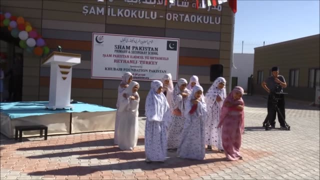 a 33classroom school for school for orphan syrian girls is opened in southern hatay province of turkey on october 18 2017 the khubaib foundation... - orphan stock videos & royalty-free footage