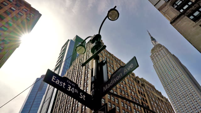 34th street and madison avenue - 34th street stock videos & royalty-free footage
