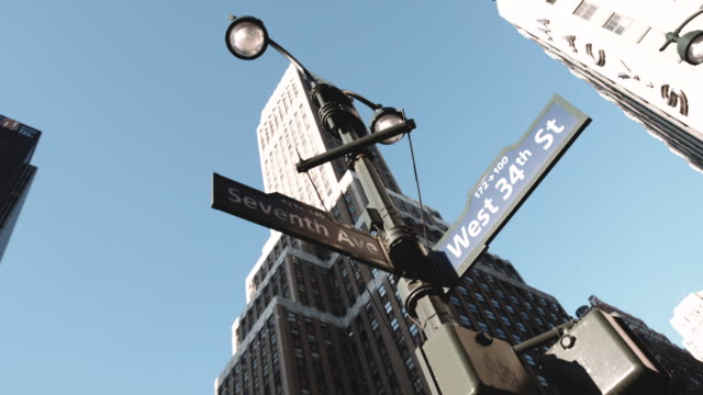 34th street new york city establishing shot - new york city penn station stock videos & royalty-free footage