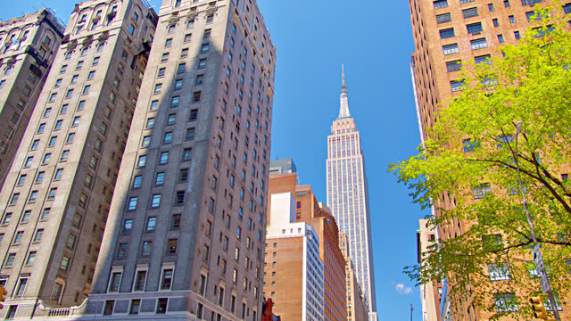 34th street new york. empire state building - 34th street stock videos & royalty-free footage