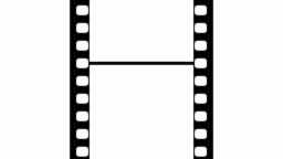 35mm Film Strip Moveing on white background. Seamless Loopable Video Footage on white screen. Abstract Film Strip design template.