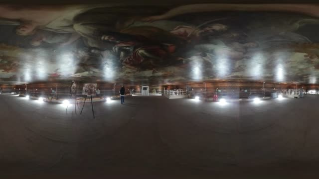360degree video of the Painted Hall at the Royal Naval College in Greenwich as the 18th century ceiling is restored
