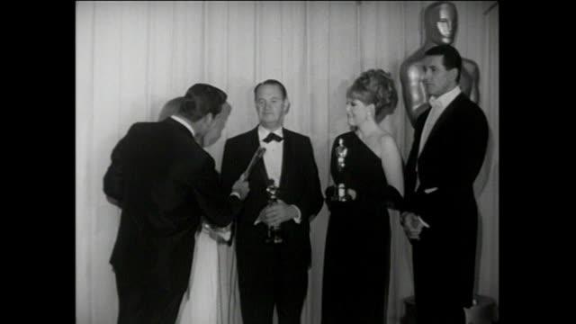 37th Annual Academy Awards INTERVIEWS Arlene Dahl Jean Simmons Rock Hudson Joseph E Levine interview