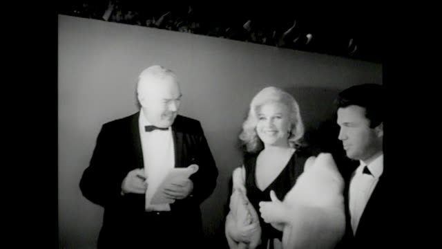 37th annual academy awards santa monica civic auditorium the 37th academy awards honored film achievements of 1964 buster keaton george c scott ann... - ann margret stock videos & royalty-free footage