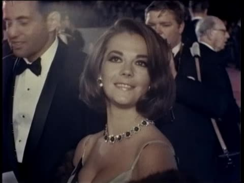38th Annual Academy Awards Arrivals 1966 Many movie stars arrive at the 38th annual academy awards at the Santa Monica Civic Auditorium Natalie Wood...