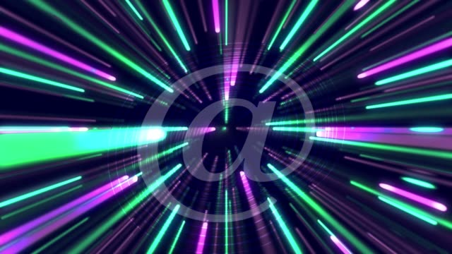 3d abstract @ - 'at' symbol stock videos and b-roll footage
