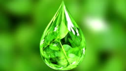3d animated water drop.