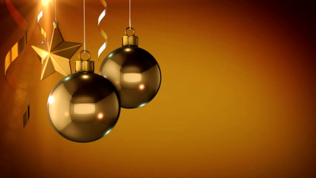 3d animation gold christmas background - world title stock videos & royalty-free footage