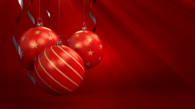 3d animation red christmas background - funny merry christmas greetings stock videos and b-roll footage
