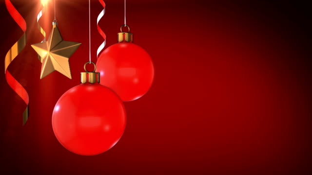 3d animation red christmas background - funny merry christmas greetings stock videos & royalty-free footage