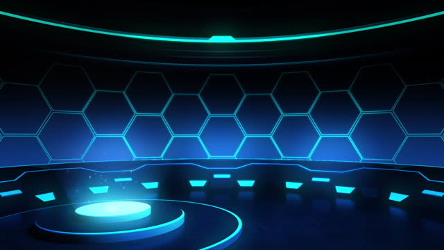 3d animation,round podium stage in blue lights rays,sport concept,loopable - game show stock videos & royalty-free footage