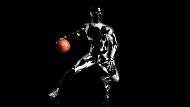 3d basket dribbling man - record breaking stock videos & royalty-free footage